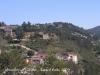 Muralles de Girona. A mitja muntanya veiem la Torre Suchet.