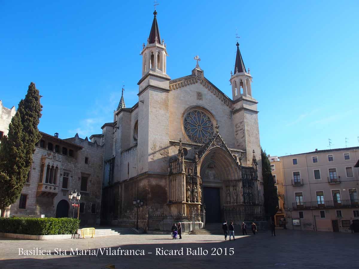 Bas lica de santa maria vilafranca del pened s alt pened s catalunya medieval - Perrera de vilafranca ...