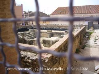 Caldes de Malavella - Termes romanes.