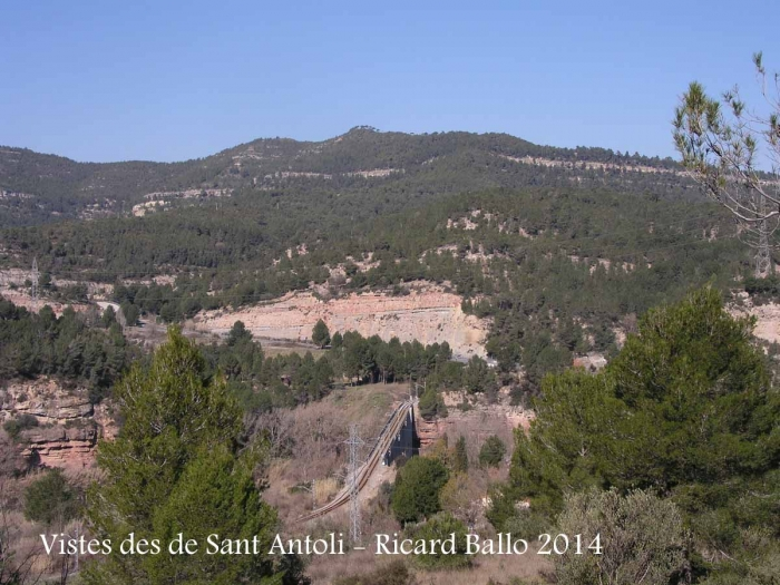 Vistes des del camí d'accés a la capella de Sant Antolí – Monistrol de Montserrat