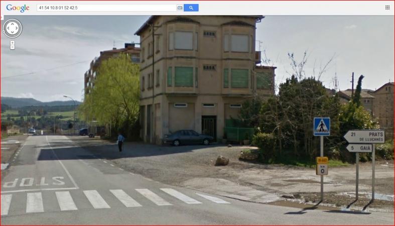 Ruta romànica carretera BV-4401- Inici itinerari - Captura de pantalla de Google Maps.