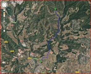 Captura de pantalla de Google Maps, complementada amb anotacions manuals.