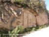 Camí al castell d'Almudèfer - Missatge a la paret.