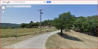 Castell d'Argimon - Camí d'accés - Captura de pantalla de Google Maps.