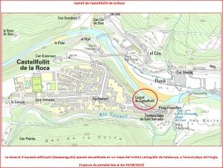 Castell de Castellfollit – Castellfollit de la Roca - Plànol, editat per l'Institut cartogràfic de Catalunya.