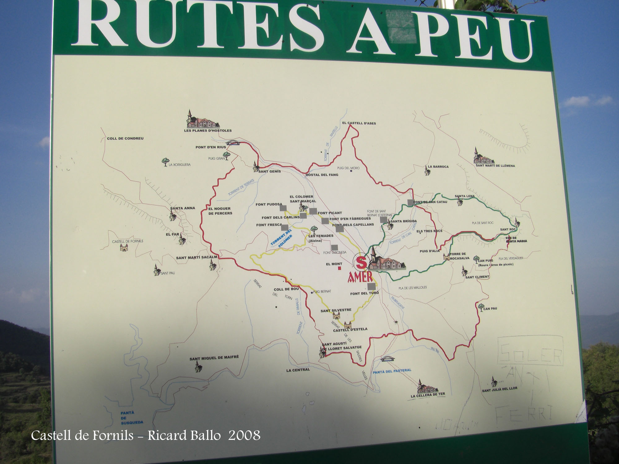 Camí al Castell de Fornils - Cartells informatius