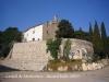 Castell de Montornès - vista de l\'ermita de la mare de Déu de Montornès.