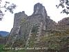 Castell de Palagret - Contraforts de l\'edificació.