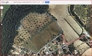 Castell de Penalonga - Itinerari - Captura de pantalla de Google Maps, complementada amb anotacions manuals.