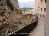 Castell del Catllar - Passeig de circumval·lació: a l\'esquerra el fossat, a la dreta les cases del poble.