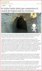 Castell del Papiol - Túnel secret ...