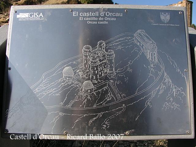 Castell d'Orcau - Panell informatiu.