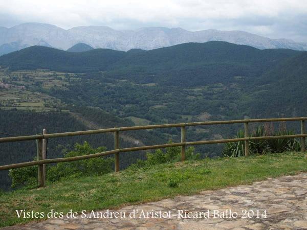 Vistes des de l'Església de Sant Andreu d'Aristot – El Pont de Bar