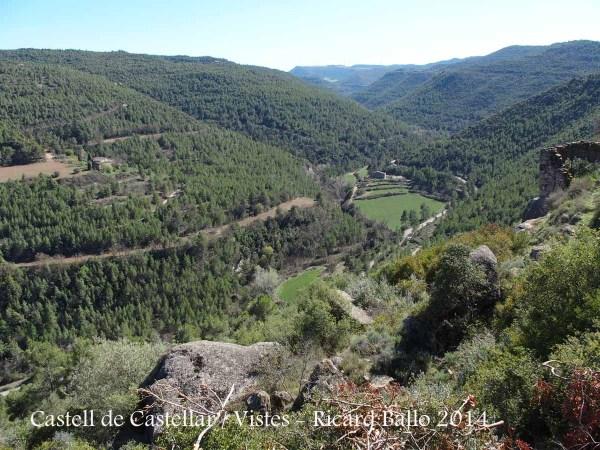 Vistes des de l'església de Sant Miquel de Castellar – Aguilar de Segarra