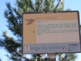 Església de Sant Pere Cercada – Santa Coloma de Farners - Camí - Roca Abellera.