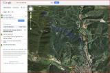 Mapa de l'itinerari per accedir a l'església de Sant Pere d'Aüira - Captura de pantalla de GOOGLE MAPS.