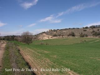 Església de Sant Pere de Tudela - recorregut.