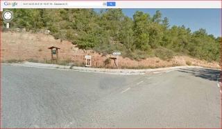 De camí a l'església a Sant Pere del Pujol - Itinerari - Captura de pantalla de Google Maps, complementada amb anotacions manuals.