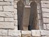 Església Vella de Santa Maria de Gàver - Detall finestra geminada.