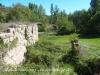 Molí de Buida-sacs – Clariana de Cardener - Al fons apareix el Pont de Buida-sacs