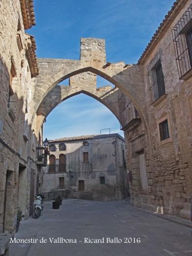 Monestir de Santa Maria de Vallbona – Vallbona de les Monges - Restes situades al carrer, davant del monestir, corresponents a un antic celler