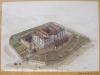 Castillo de Tiebas / NAVARRA - Maqueta - Fotografia obtenida de un plafón informativo situado delante de la edificación.
