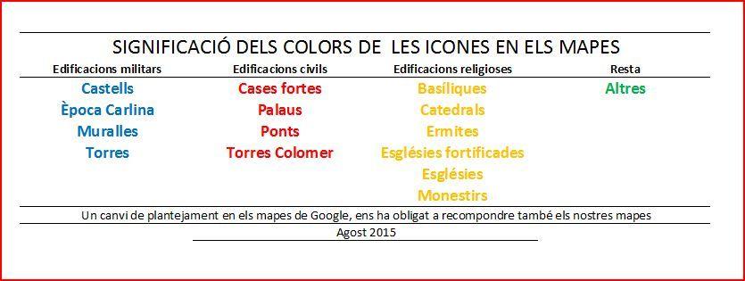 Significacio dels colors de les icones en els mapes