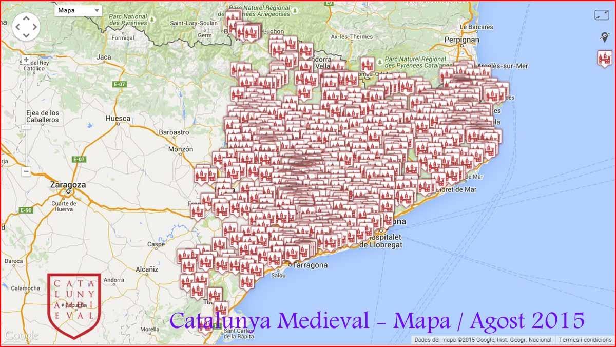 Mapa de Catalunya Medieval - Agost 2015 ¡ i encara no hem acabat ... ¡