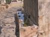 Torà - Plaça de la Font - Els abeuradors: Al costat del safareig, és on anaven a beure els animals. S\'omplien amb l\'aigua sobrera - Font: Fulletó emès per l\'Ajuntament de Torà.