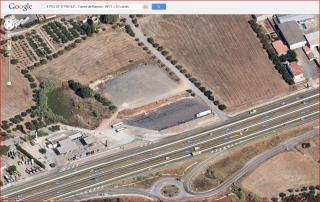 Torres del Mas de Ramon – Vila-seca - En aquesta fotografia s'observa l'aparatositat d'aquest vial en aquesta zona, amb fins a deu carrils de circulació - Captura de pantalla de Google Maps.
