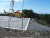 Camí de Palau Novella a Sitges - La Pleta - Durant l'estiu hi ha aquesta base on està estacionat un helicòpter preparat per lluitar contra els incendis forestals