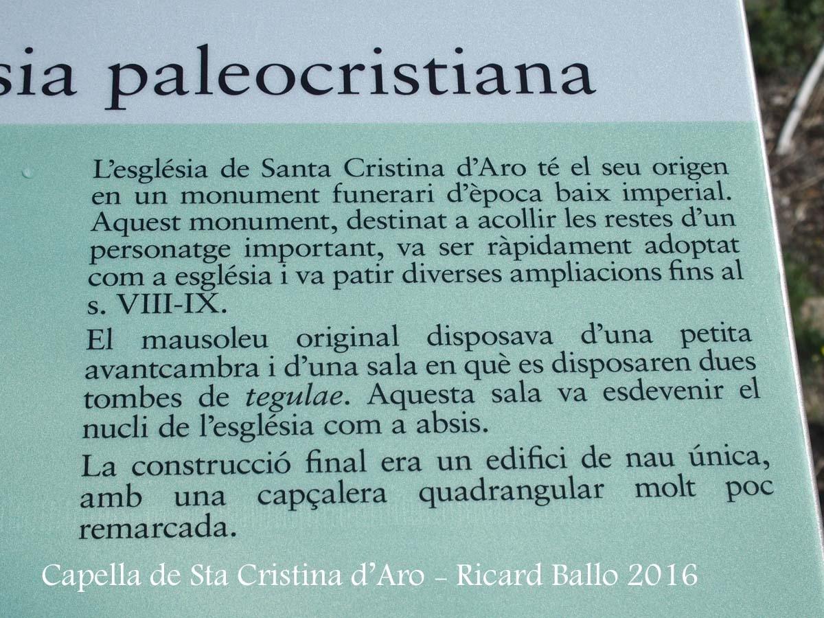 Capella Paleocristiana de Santa Cristina d'Aro – Santa Cristina d'Aro