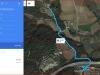 Capella de Sant Joaquim d'Olivars – Sant Julià de Ramis - Itinerari - Captura de pantalla de Google Maps