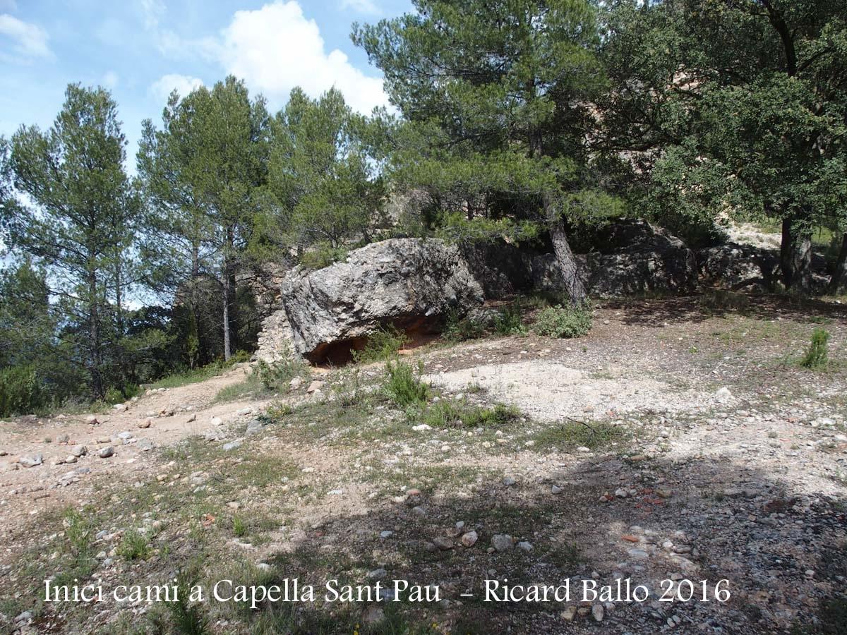 Capella de Sant Pau – Horta de Sant Joan - Itinerari - Inici de la part final del camí