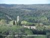 Vistes des del Castell de Solius - El campanar que apareix al bell mig de la fotografia, és el de l'Església de Santa Agnès de Solius