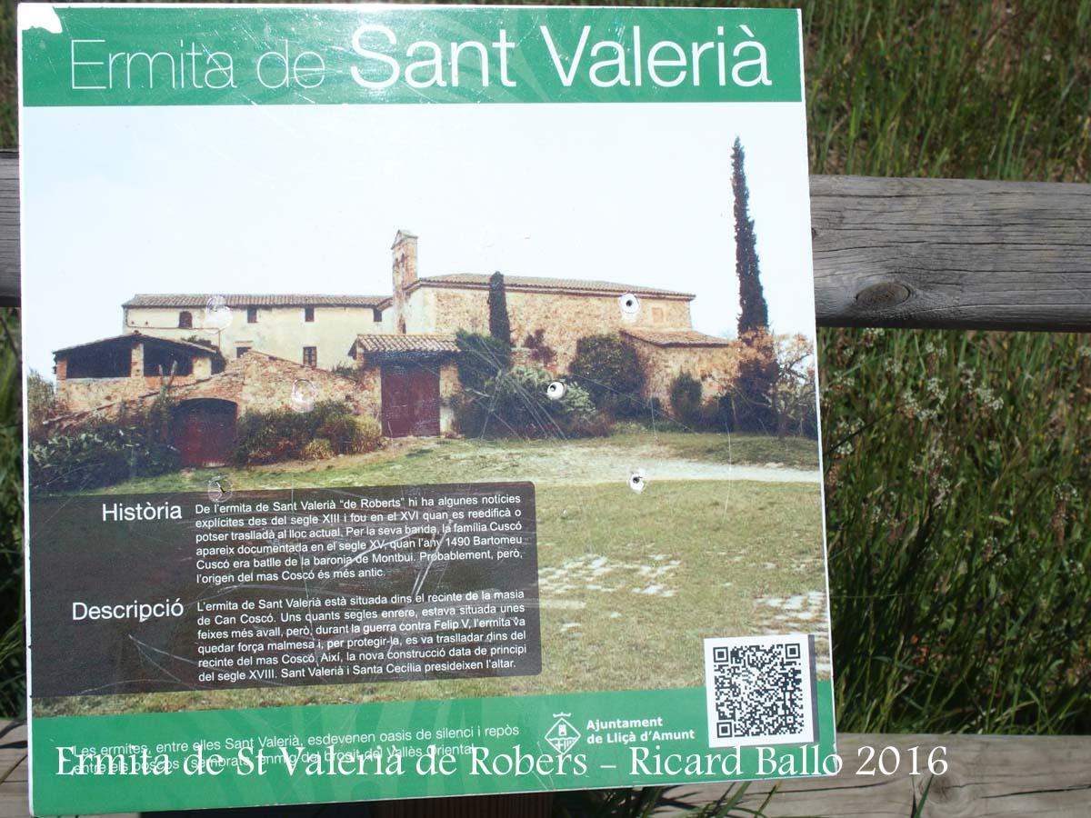 Ermita de Sant Valerià de Robers – Lliçà d'Amunt - Detall - AMPLIACIÓ