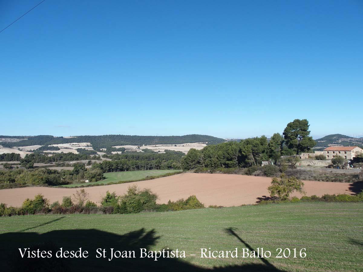 Vistes des de l\'Església de Sant Joan Baptista – Santa Coloma de Queralt