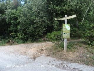 Camí d'accés a l'Església de Sant Joan de Montbó – Canet d'Adri