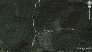 MAPA del camí d'accés a l'Església de Sant Joan de Montbó – Canet d'Adri - Captura de pantalla de Google Earth