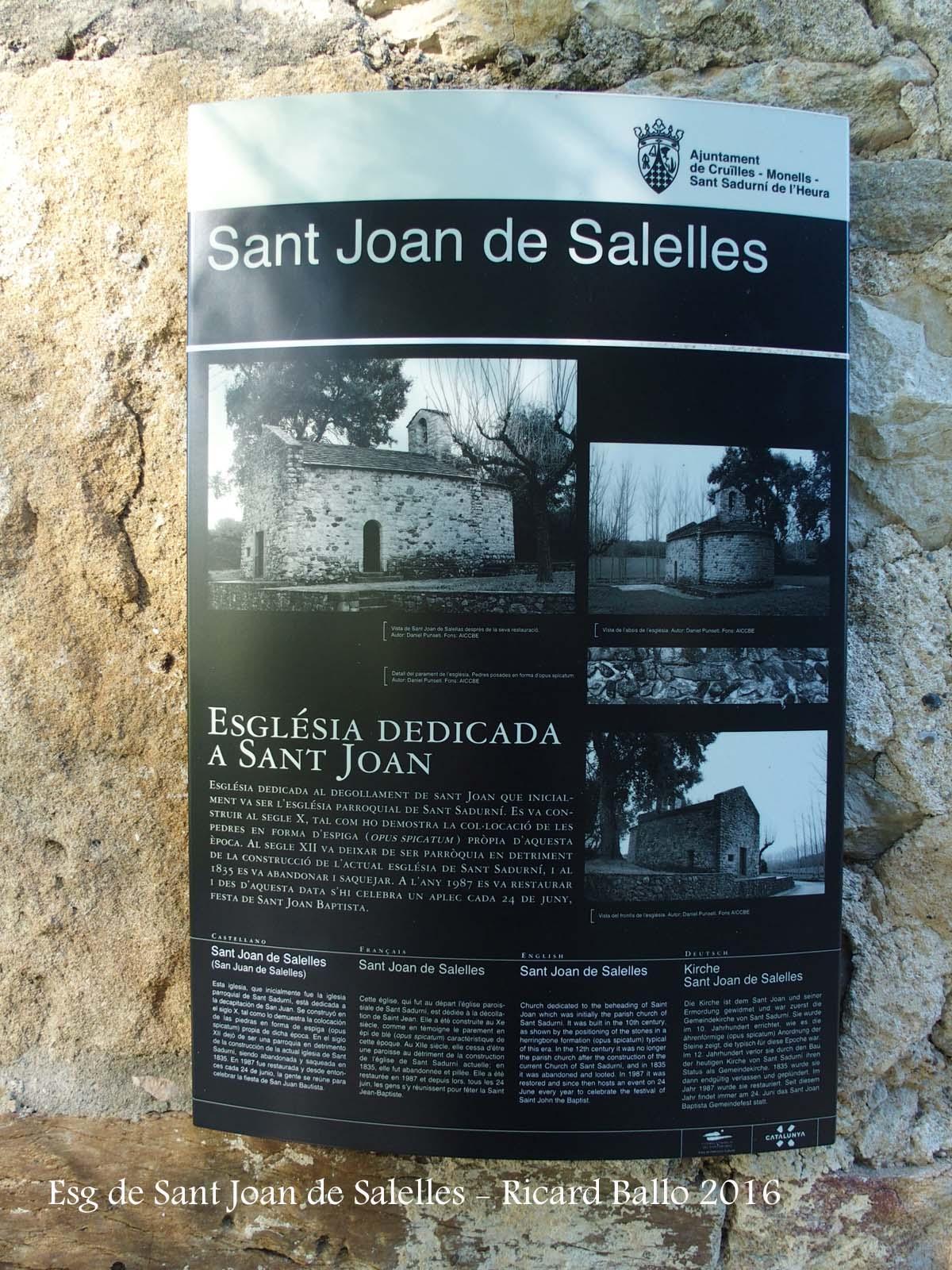 Església de Sant Joan de Salelles – Cruïlles, Monells i Sant Sadurní de l'Heura