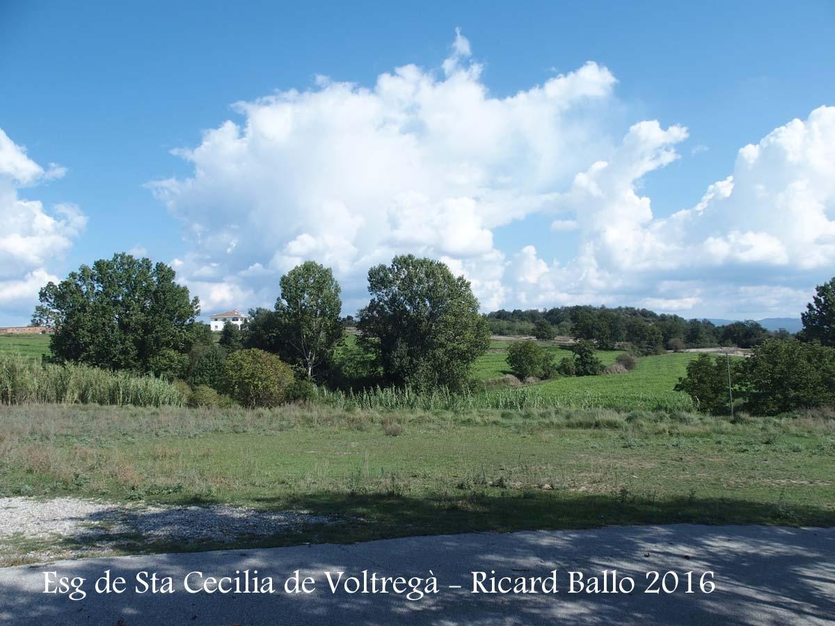 Vistes des de l'Església de Santa Cecília – Santa Cecília de Voltregà - Entorn
