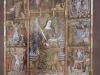Església de Santa Cristina – Corçà - Plafó informatiu situat al davant de l'església, on apareix el Retaule de Santa Cristina, una pintura al tremp sobre fusta, obra de la segona meitat del segle XV. Actualment, el retaule es conserva al Museu d'Art de Girona