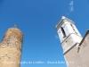 Sant Sadurní de l'Heura - A l'esquerra de la fotografia apareix la formidable mola de la torre del castell de Cruïlles