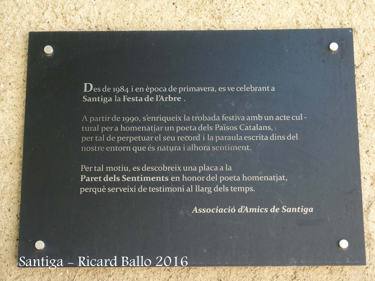 Església de Santa Maria de Santiga – Santa Perpètua de Mogoda - Paret dels sentiments