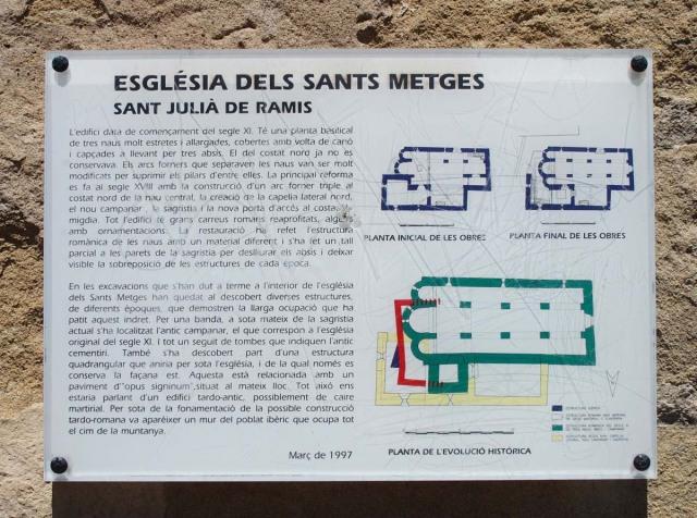 Església dels Sants Metges – Sant Julià de Ramis - Plafó informatiu situat al davant de l'església
