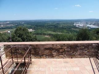 Església dels Sants Metges – Sant Julià de Ramis - Terrassa superior del campanar, lliurament accessible