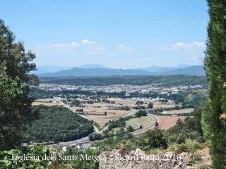 Vistes des de dalt del campanar de l'Església dels Sants Metges – Sant Julià de Ramis