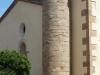 Església parroquial de Sant Medir de Cartellà – Sant Gregori - Aqui hi veiem el cos cilíndric construït amb carreus ben tallats, on en el seu interior hi ha una escala de cargol de pedra per accedir al campanar