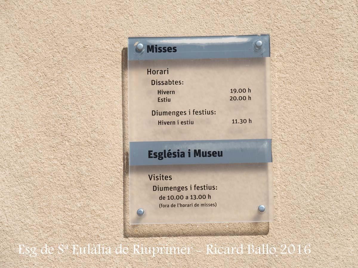 Església parroquial de Santa Eulàlia – Santa Eulàlia de Riuprimer