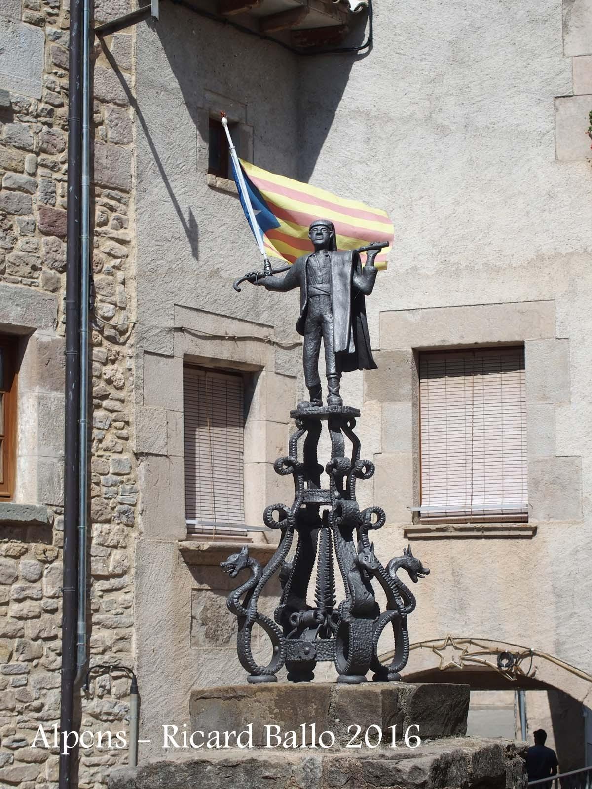Alpens - Mostra d'un notable treball de forja, icona de la població